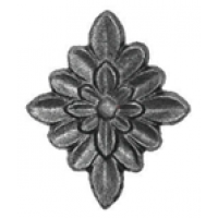 Цветок накладка 95*75 толщина 8 мм